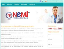 Tablet Preview of nemipharma.in